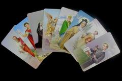 Lot of 8 Fratelli Bonella Milano 400 Series Holy Prayer Cards Made In Italy