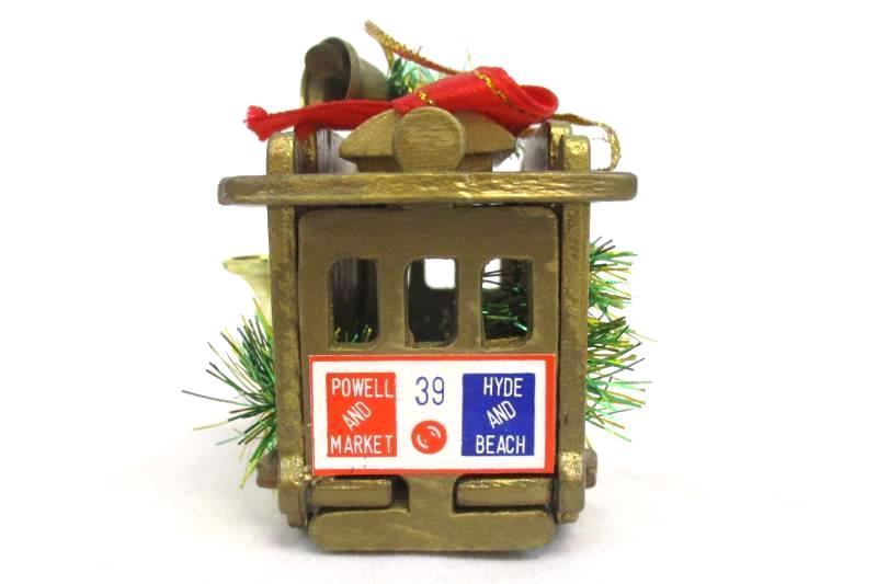 Powell & Hyde Cable Car Christmas Tree Ornament San Francisco Trolley 39