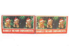Lot of 2 Boxes Vintage Barely Bears Christmas Ornaments House of Lloyd