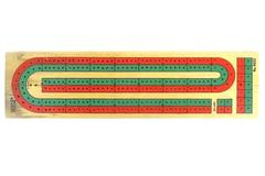 Hoyle Number 5022 Wooden Cribbage Board with 4 Pegs Two Lanes