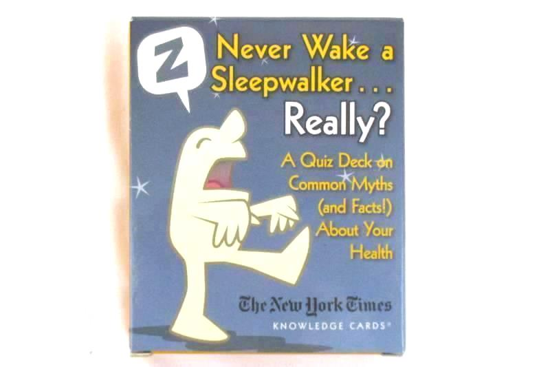 Never Wake A Sleepwalker Knowledge Card Game Aahad O'Connor Pomegranate