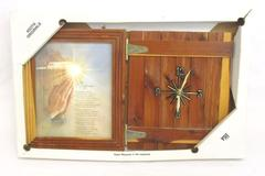 Keota Original Rustic Wood Frame Clock Religious The Difference Quartz Orig Box