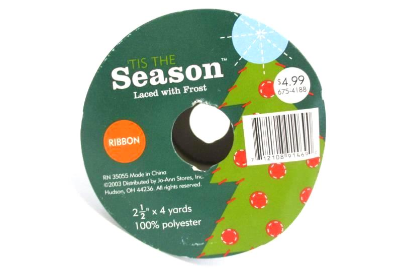 Lot of 4 Tis The Season Christmas Ribbon 4 Yards Rolls Snowflake Holly Sealed