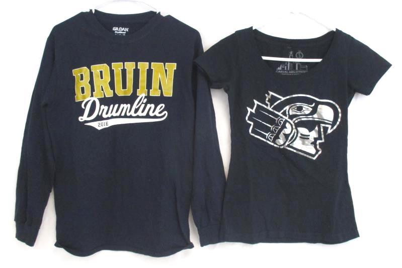 Lot of 4 Women's Sz S Top Shirt Avia Divided Gildan Bruin Drumline Casual Eagles
