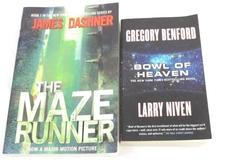 Lot of 2 Science Fiction Novels Paperback Bowl Of Heaven The Maze Runner