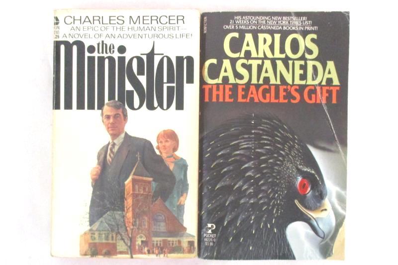 Lot of 2 Books The Eagle's Gift Carlos Castaneda & The Minister Charles Mercer