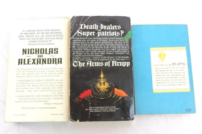 Lot 3 Vintage Nonfiction Paperbacks Nicholas And Alexandra Arms Of Krupp Plato