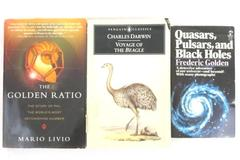 Lot of 3 Science Paperbacks Black Holes Golden Ratio Voyage of The Beagle