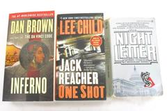 Lot of 3 Thriller Paperback Novels Inferno Night Letter Jack Reacher One Shot