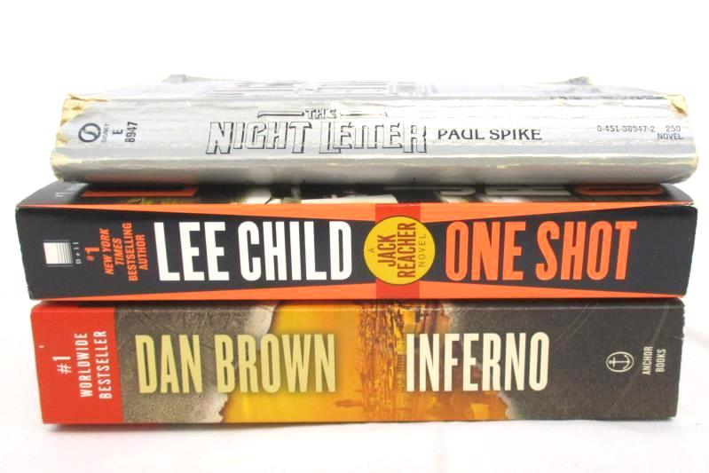 Lot of 3 Thriller Paperback Novels Inferno Night Letter Jack Reacher One Shot