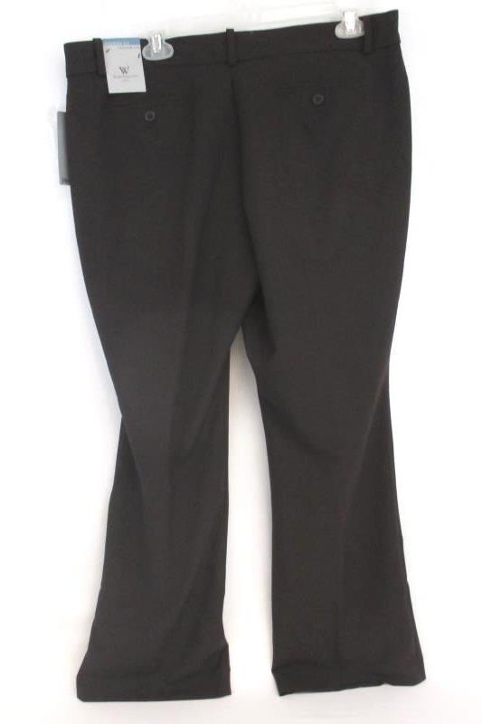 Worthington Womens Petite Modern Fit Dress Pants Brown Trouser Leg 14P With Tags
