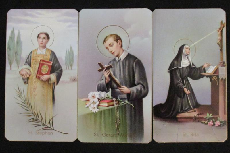 Lot of 7 Fratelli Bonella Milano Holy Prayer Cards 400 Series Italy