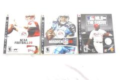 Lot of 3 Empty Sony PlayStation 3 Covers Madden NFL 08 NCAA 09 MLB 08 The Show