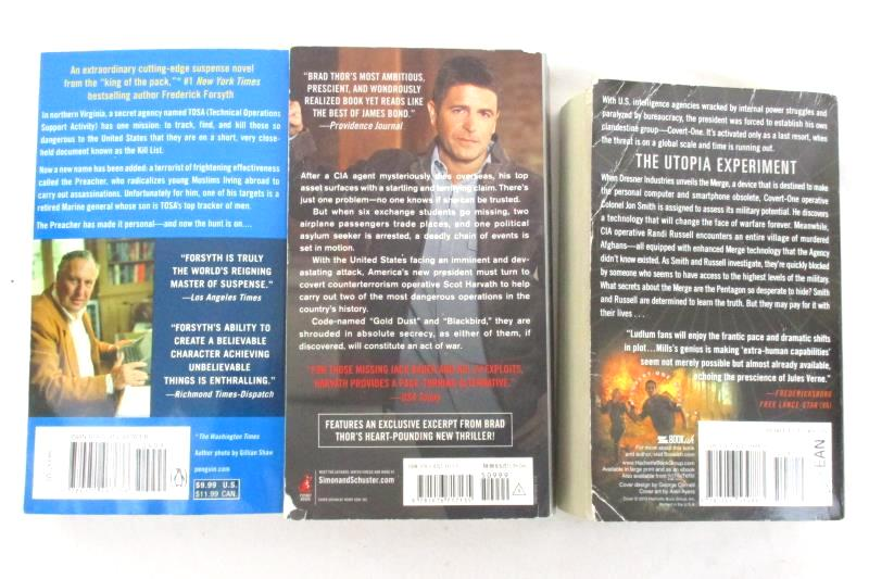 Lot of 3 Thriller Paperback Novels The Kill List Act Of War Utopia Experiment