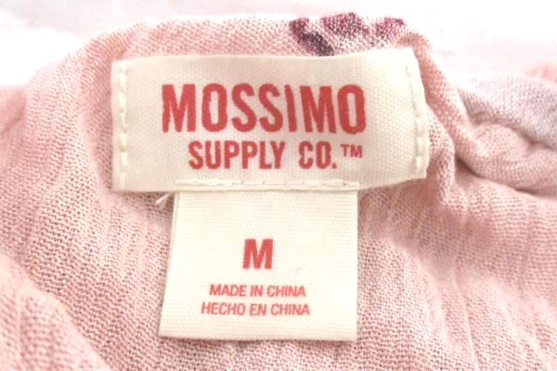 Mossimo Womens Tunic or Mini Dress One Shoulder Feather Print Pink Size M