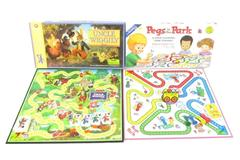 Lot of 2 Board Games 2003 Uncle Wiggly 1993 Pegs In The Park Family Children's