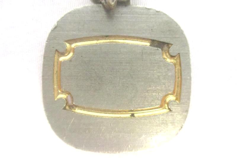 Vintage Gold Tone Scale Weight Key Chain Link Slide Lock Pat No 324587