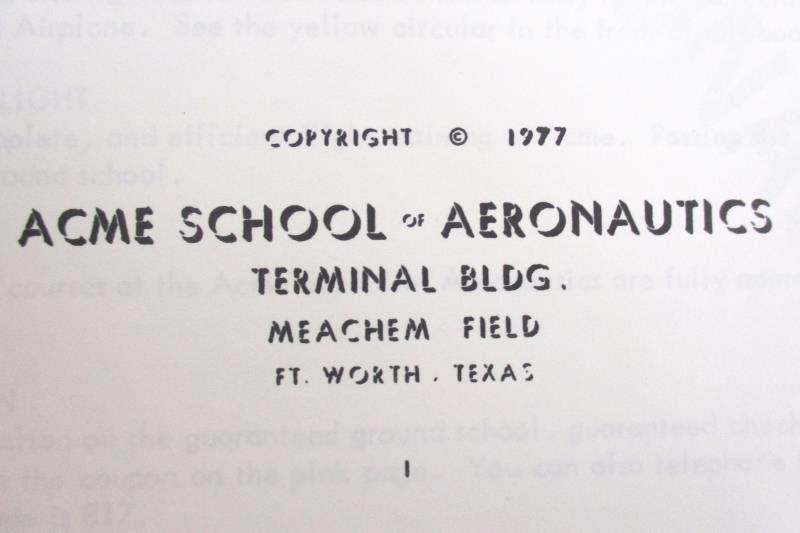 Vintage 1977 Airplane Instructor FAA Exams Made Easy ACME School Of Aeronautics