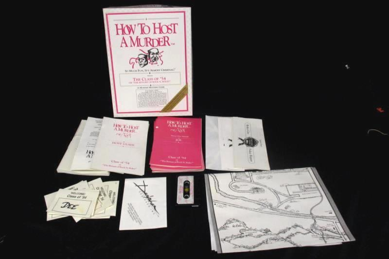 Intuitive Marketing  How To Host A Murder Class Of 54 Adult Game 1987
