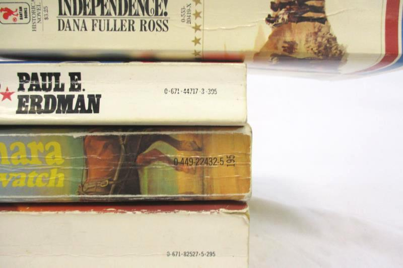 Lot of 4 Fiction Paperback Novels Independence The Last Days Cashelmara The Wind