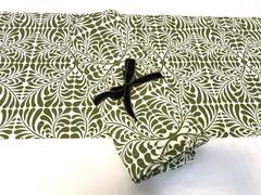Hen House Linens Set of 12 Placements & 1 Table Runner Fern Moss Green