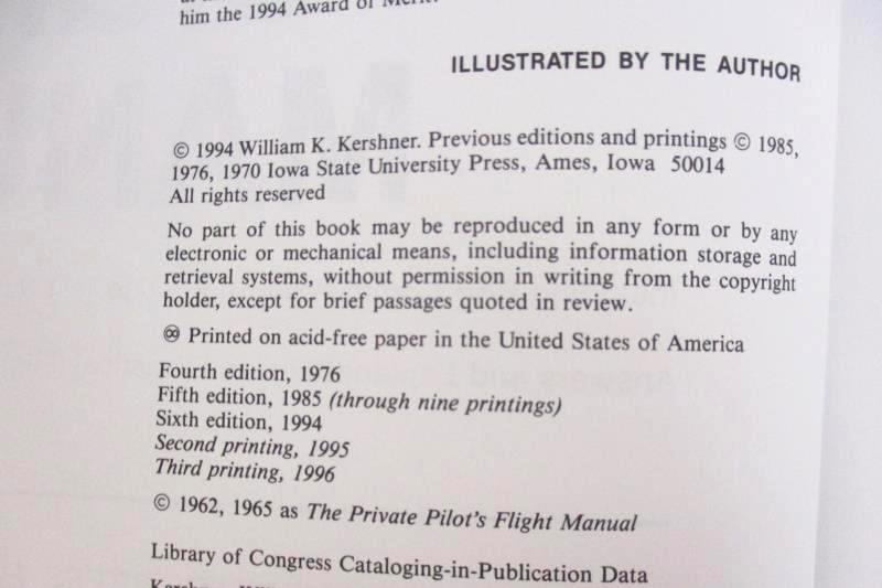 The Advanced Pilot's Flight Manual William K Kershner 1994 6th Ed Iowa State