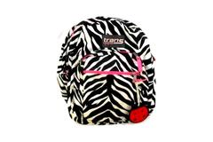 Jansport Trans Backpack Zebra Stripe Canvas TM60 School Hiking Camping