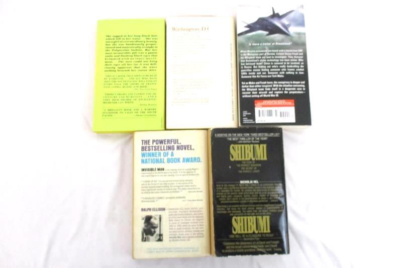 Lot of 5 Fiction Paperback Novels Shibumi Invisible Man Target Utopia Paradise