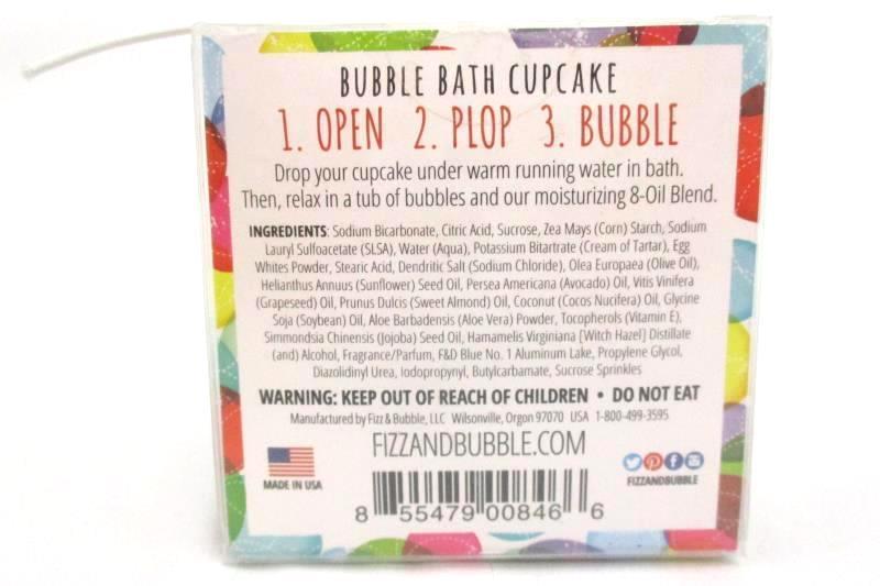 Fizz & Bubble Birthday Cake Bubble Bath Cupcake 5 oz Bath Bomb Sealed