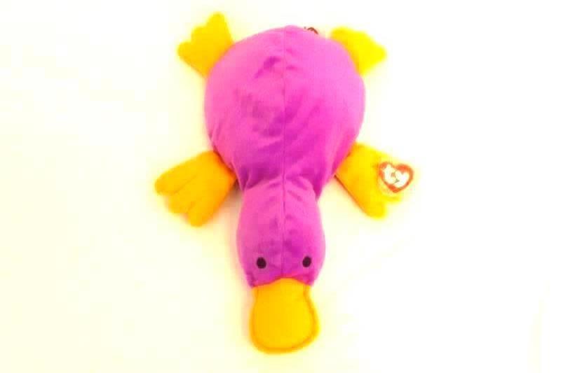 Ty Beanie Pillow Pal Paddles Platypus 1998 Original Purple Plush 16 Inch Tags