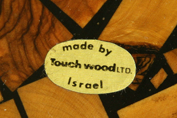 """Vintage 3.5"""" Touch Wood Square Plaque From Israel"""