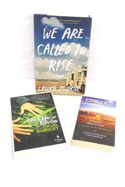 Lot of 3 Adventure & Futuristic Fiction Novels Books Edward Abbey Laura McBride