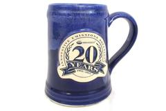 Grey Fox Pottery Mug Handmade Miratech Innovative Emissions Solutions 20 yr