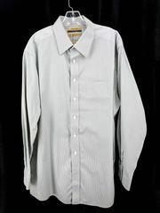 Roundtree & Yorke Gold Label 100% Cotton Button Dwn Shirt Gray Plaid Men's 17/35