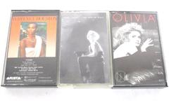 Lot of 3 Pop Cassette Tapes Cyndi Lauper Whitney Houston Olivia Newton John