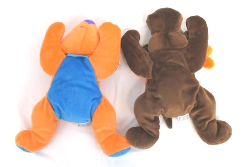 Lot of 2 Ty Beanie Pillow Pals 1998 Antlers Moose Koala Bear Plush With Tags