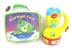 Lot of 2 Toddler Toys Leapfrog Good Night Scout Book VTech Spin Learn Flashlight