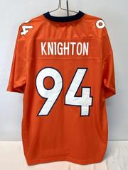 Denver Broncos #94 Knighton Football Jersey NFL ProLine Orange Men's L
