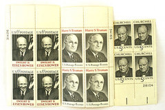 Lot Of  Four Each Of Three President Stamps Churchill, Truman And Eisenhower
