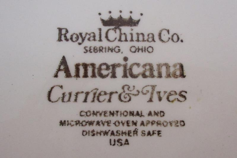 Royal China Currier & Ives Old Grist Mill Dinner Plate 10.5 Inch