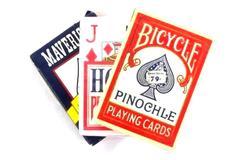Lot of Three Decks Of Pinochle Playing Cards Bicycle Maverick Hoyle