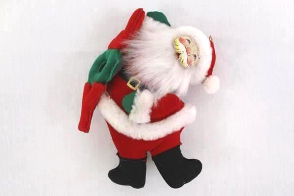 Mixed Set of Santa Figurine Ornament Bean Bag Bottom Standing Tree Hanging Joy