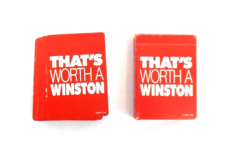 Vintage 1993 That's Worth A Winston Playing Cards Cigarette Advertising
