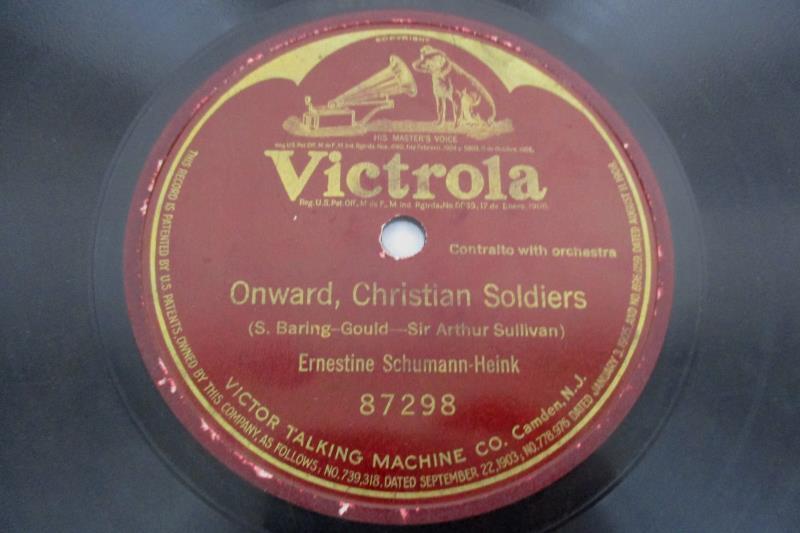 Ernestine Schumann Heink Victrola 78rpm Onward Christian Soldiers 87298 10 Inch