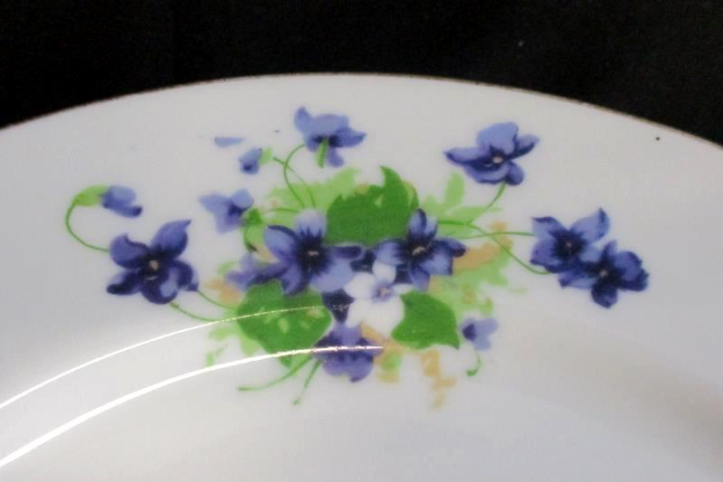 Sweet Violets China Dinner Plate 10.25 Inch Gold Rim 9/256