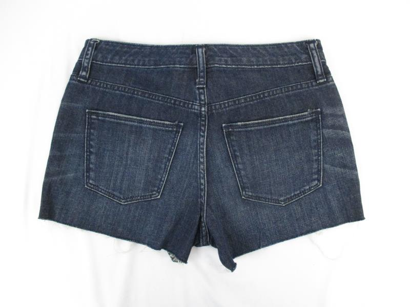Universal Thread Jean Shorts Dark Blue Denim Cut Off Women's Sz 0 25R With Tag