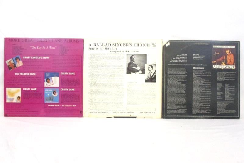Lot of 3 Vinyl LP Records Rock Folk Ballad Cristy Lane Al Stewart Ed McCurdy