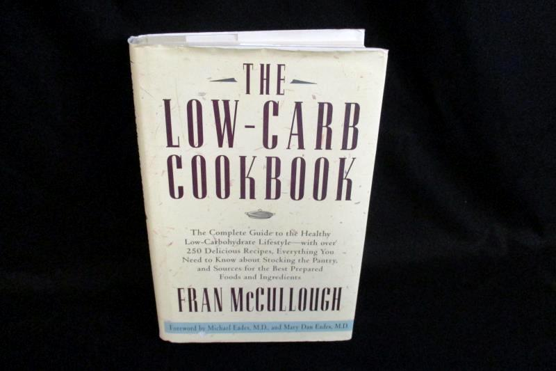 The Low Carb Cookbook Fran McCullough 1997 Hyperion 1st Ed Hardcover