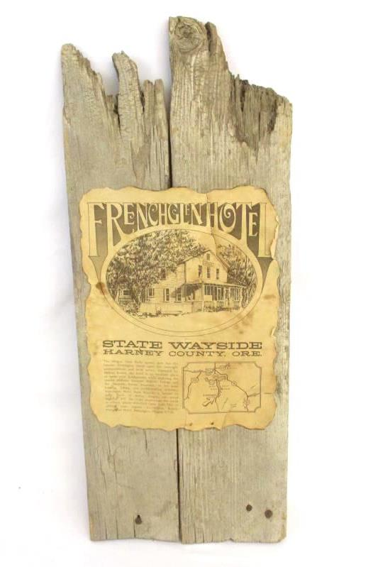 Frenchglen Hotel State Wayside Harney County OR Wood Board Souvenir Wall Hanging