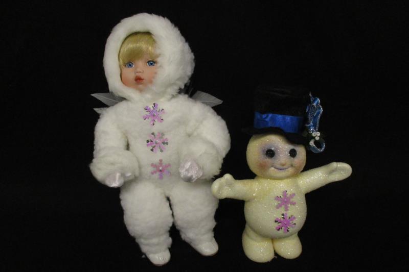 Ashton Drake Beneath The Mistletoe 1994 Snow Babies Doll Snowman Original Box